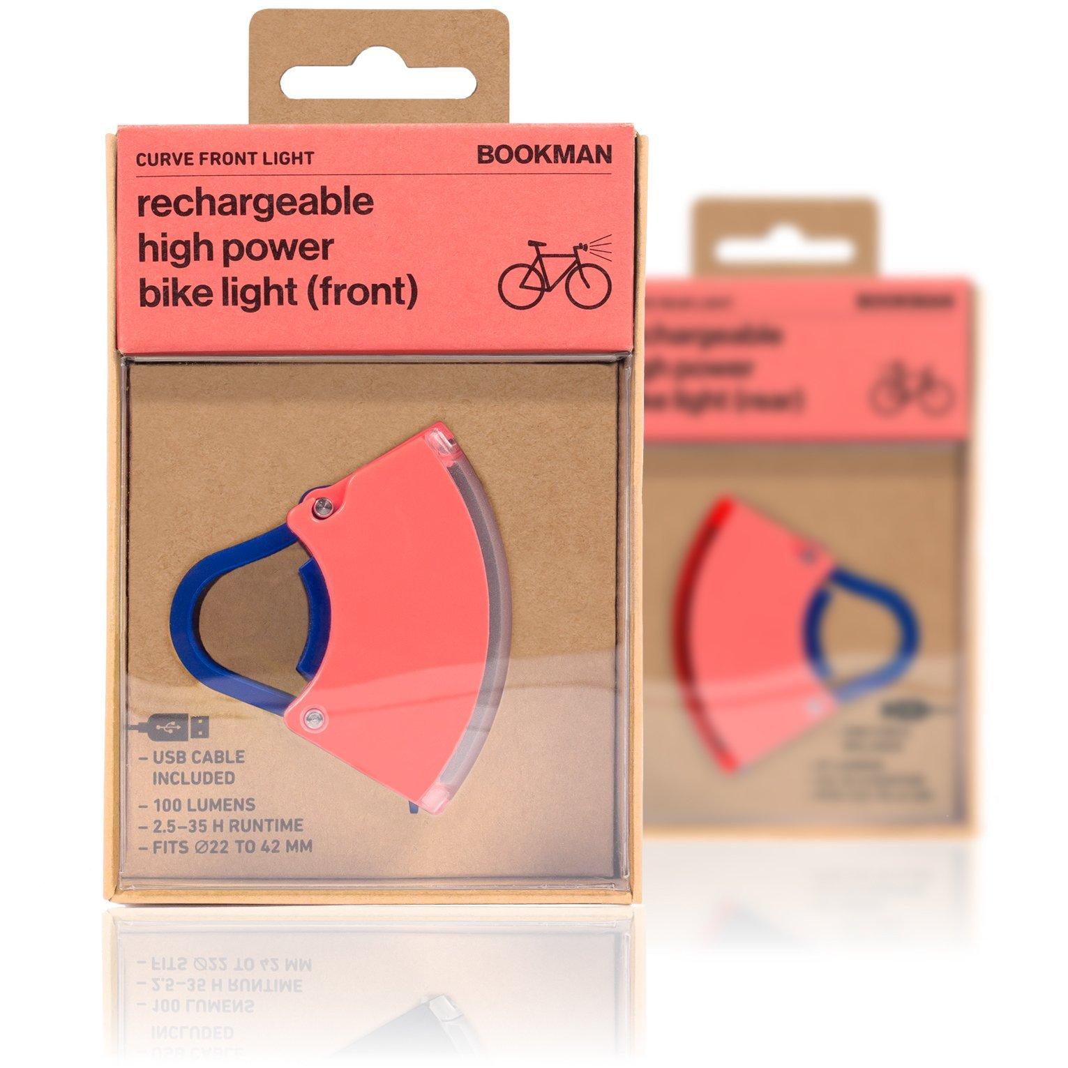 Bookman Curve 2 baglygte USB neon roal pink/mørkeblå | Rear lights