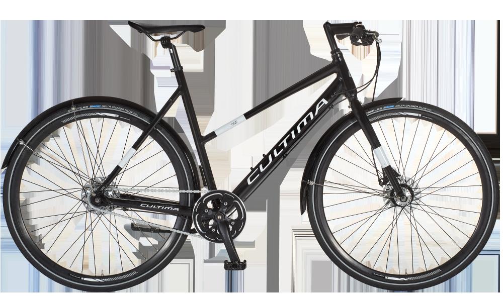 CULTIMA SportOne 7gear - Damecykel - Sort - 3.899,00 : Cykelgear.dk - Cykelgear.dk