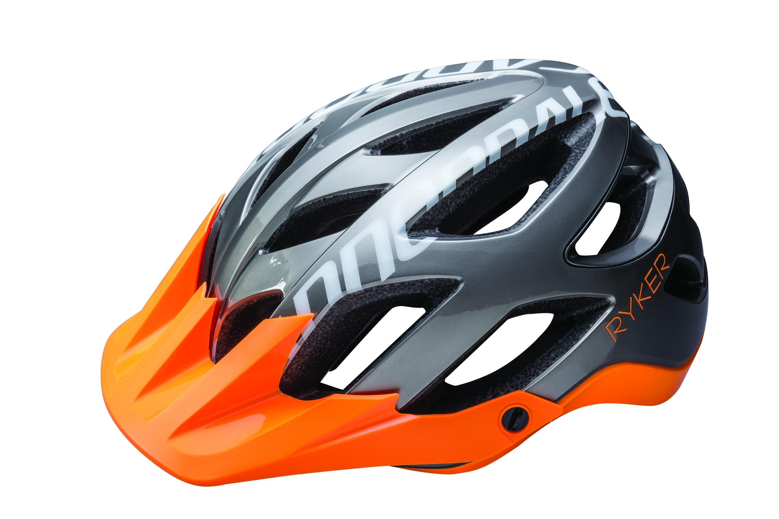 Cannondale Ryker hjelm grå med orange skygge   Hjelme