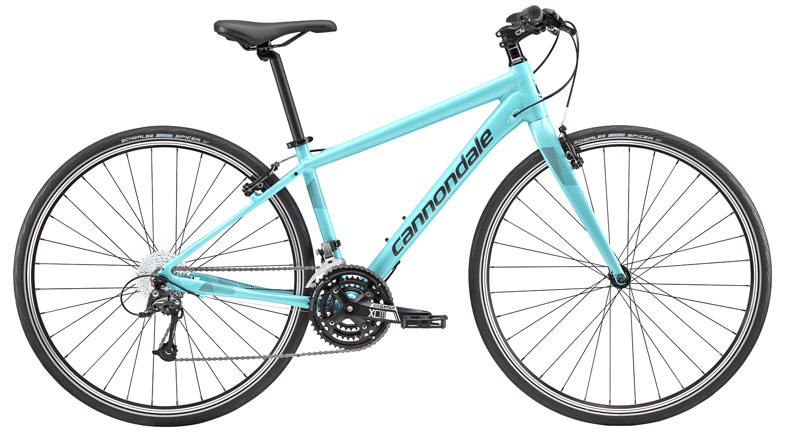 Cannondale Quick 4, 3x9gear Deore Mix, turkis damecykel | City