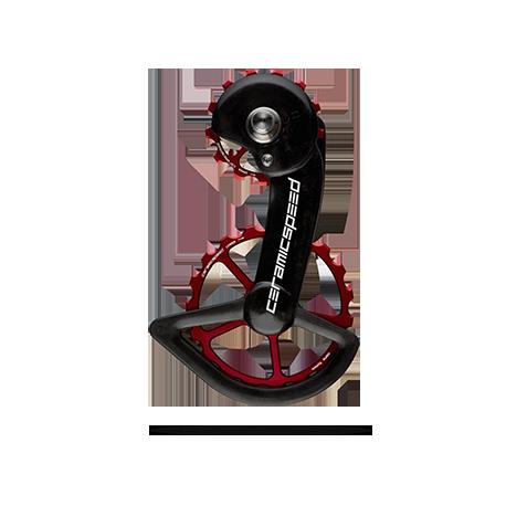 CeramicSpeed Keramiske Oversized Pulleyhjul Rød Shimano 9100 | Pulleyhjul