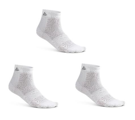 Craft Greatness Mid sokker 3-pak hvid | Strømper