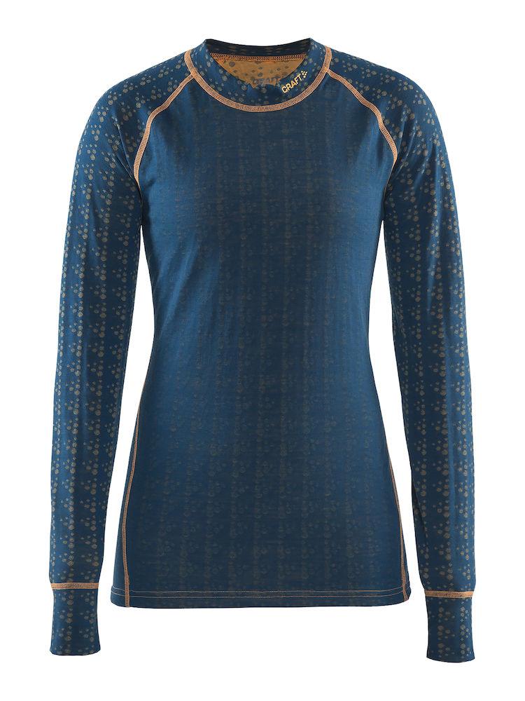 Craft Nordic Wool Crew Neck blå til kvinder | Base layers