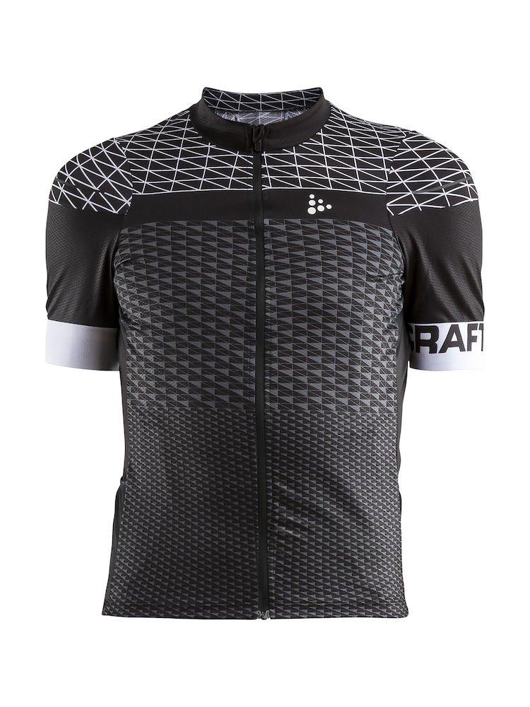 Craft Route jersey langærmet cykeltrøje i sort og hvid | Jerseys