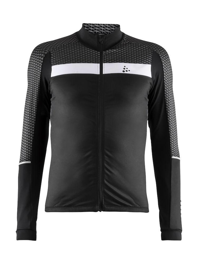 Craft Route jersey lange ærmer sort/hvid | Trøjer
