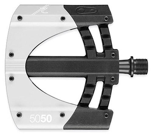 Crankbrothers 50/50 flats pedalsæt Sort/Sølv | Pedaler
