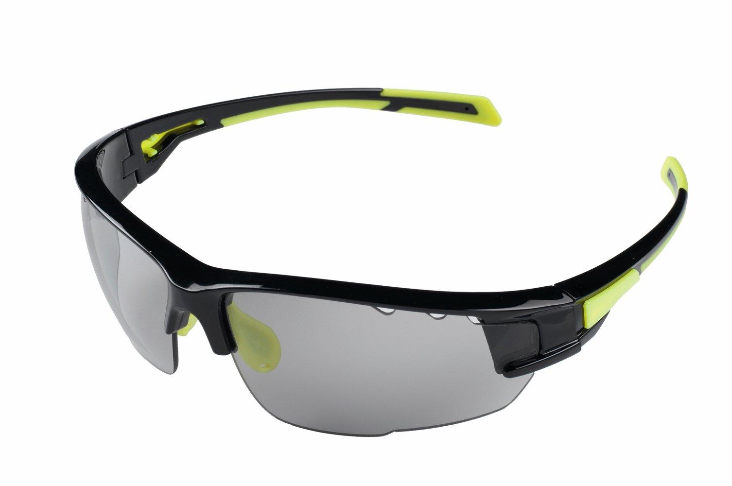 Cykelbriller med fotokromiske linser sort/gul | Briller