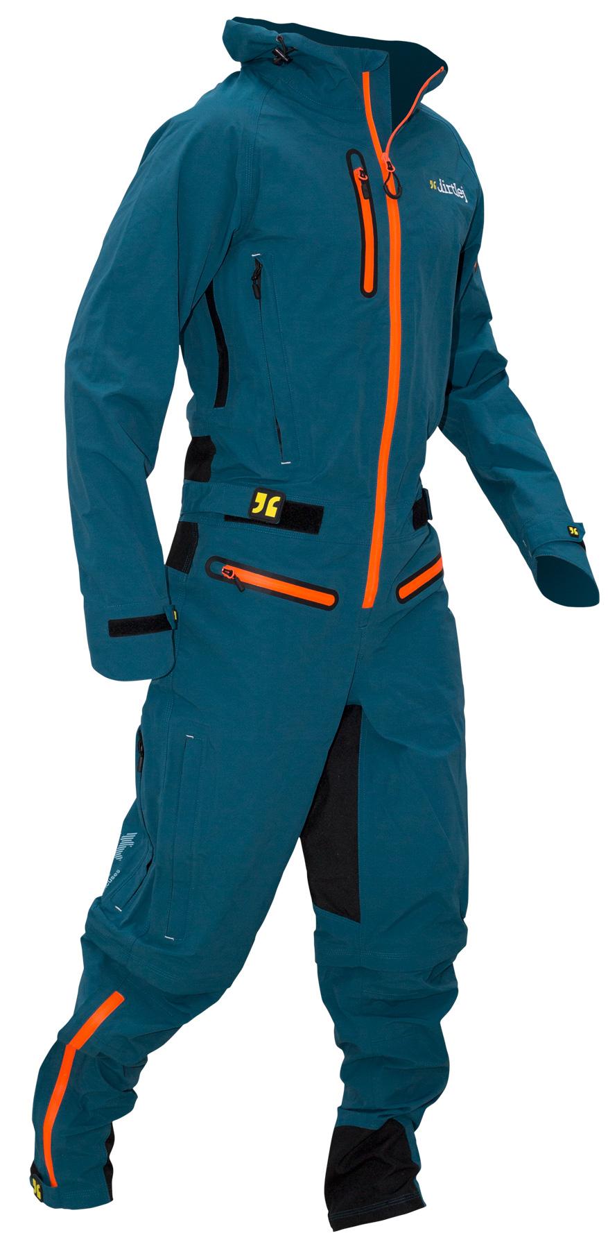 Dirtlej Dirtsuit Core Edition heldragt med lange ben safirblå | Jakker