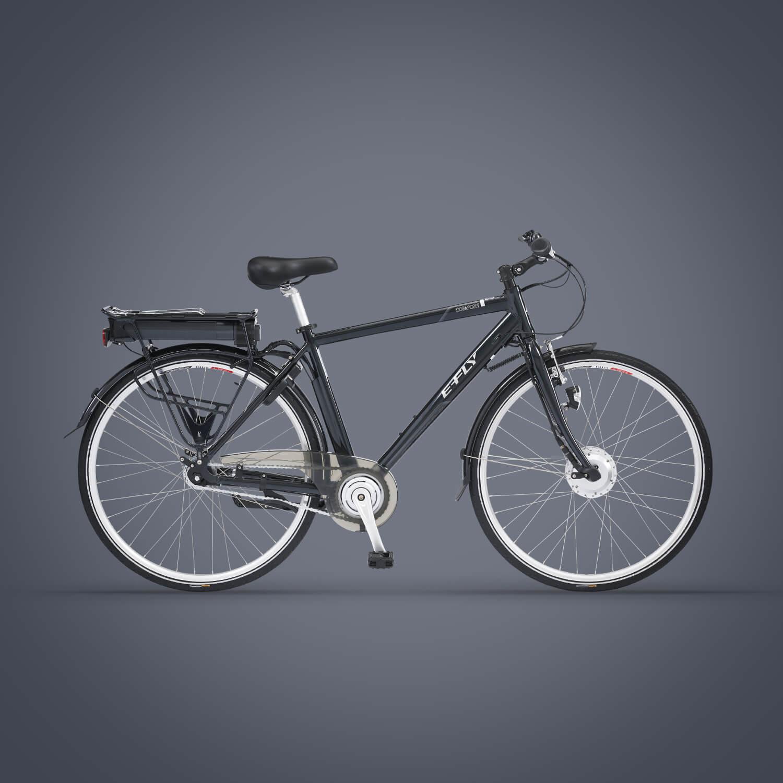 E-fly comfort herre Elcykel med 7 gear - sort | City-cykler