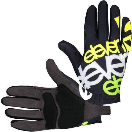 Eleven cykelhandsker sort/hvid/fluo | Gloves