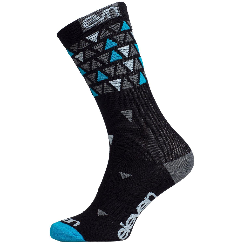 Eleven Suuri strømper med trekanter sort/blå/grå | Socks
