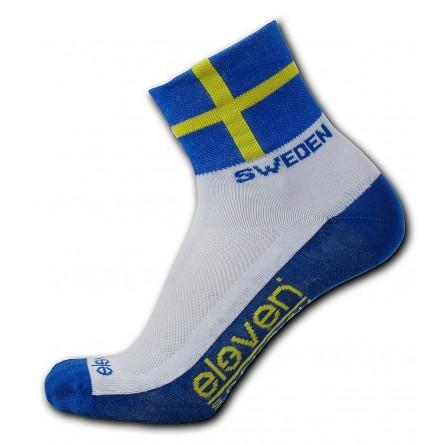 Eleven cykelstrømper med det svenske flag | Strømper