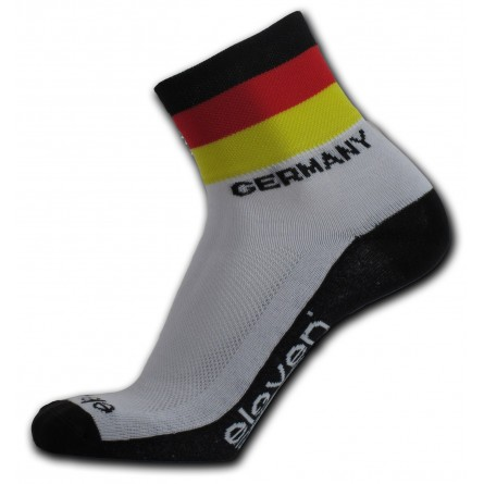 Eleven cykelstrømper med det tyske flag | Socks