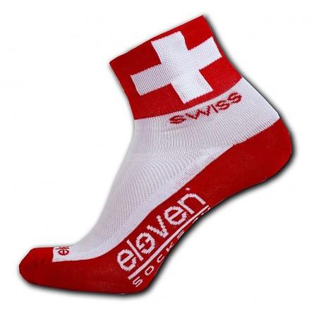 Eleven cykelstrømper med det schweiziske flag | Socks