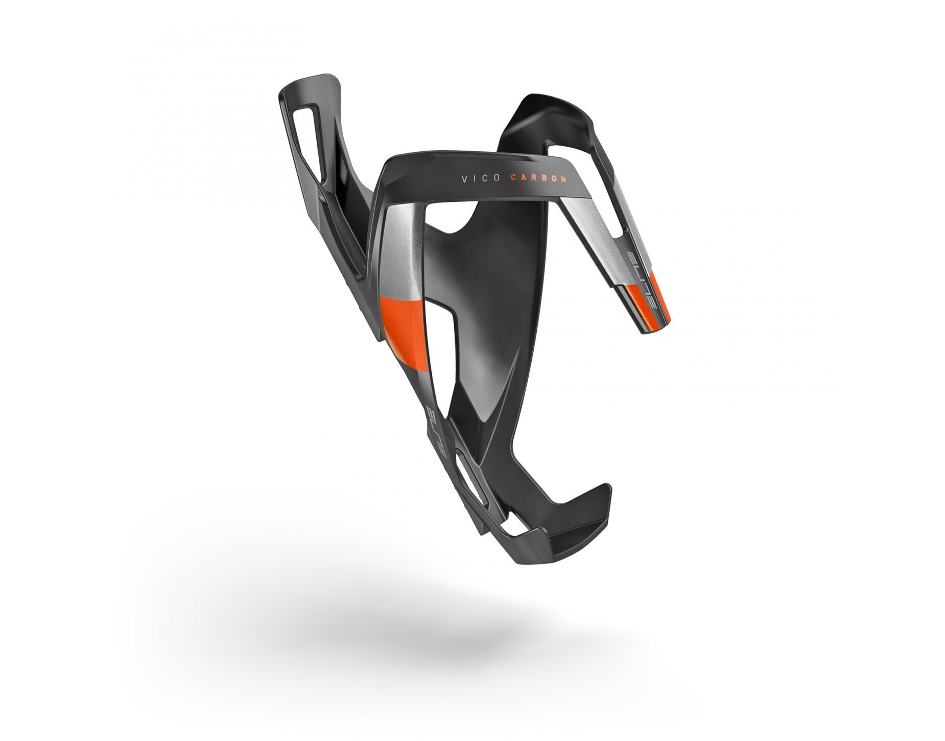 Elite Vico Carbon Matt Sort - Orange Grafik | Bottle cages