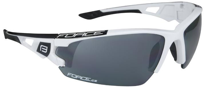 Force Calibre cykelbriller hvid med ekstra linser