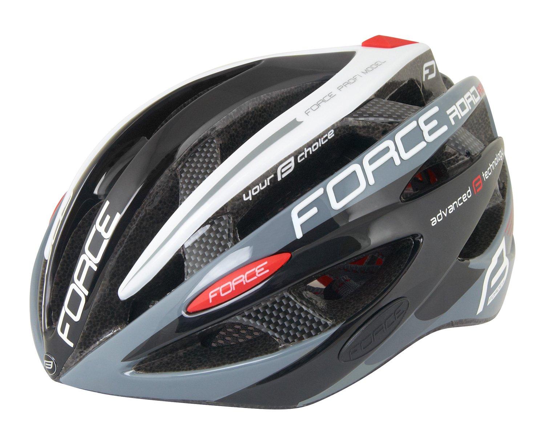 Force Road Pro cykelhjelm sort/grå/hvid