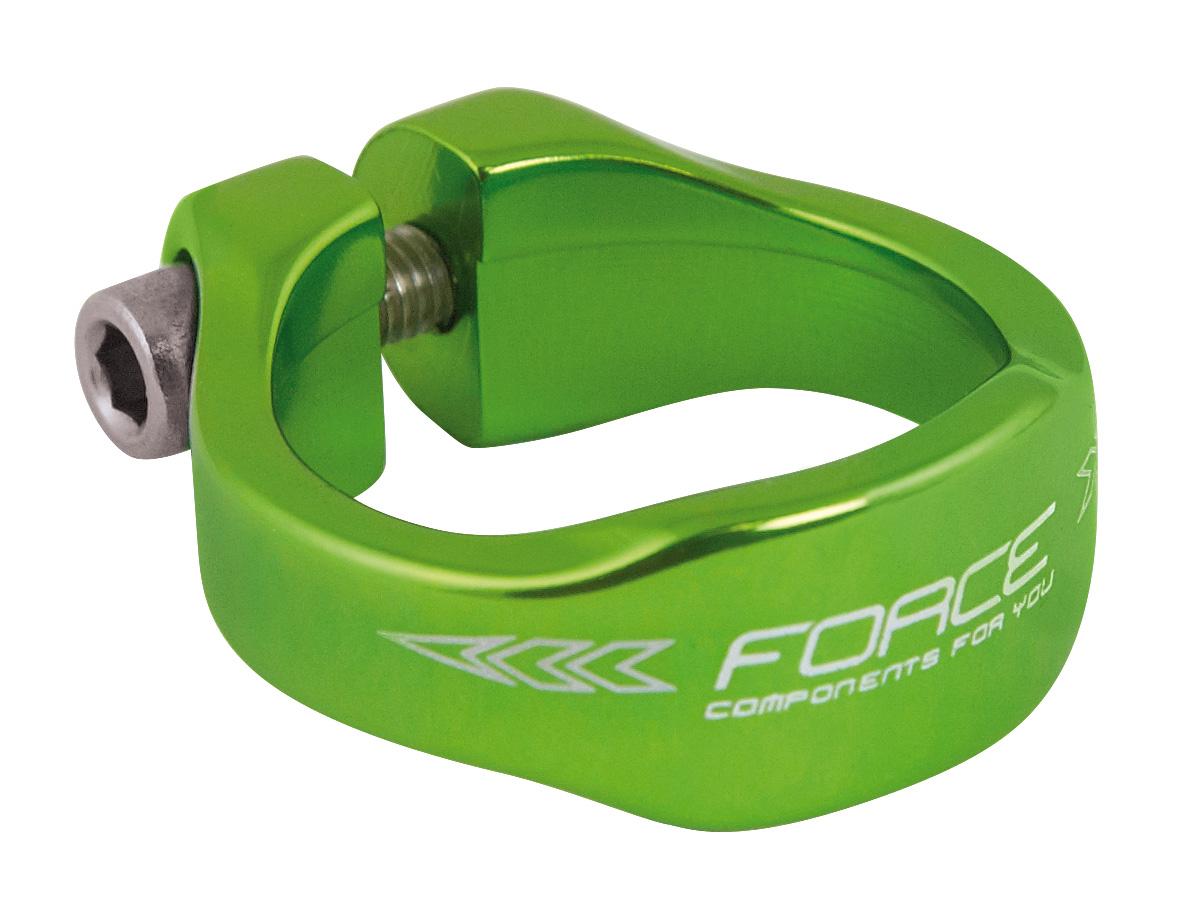 Force Sadelrørsklampe grøn Ø31.8mm | Pedal cleats
