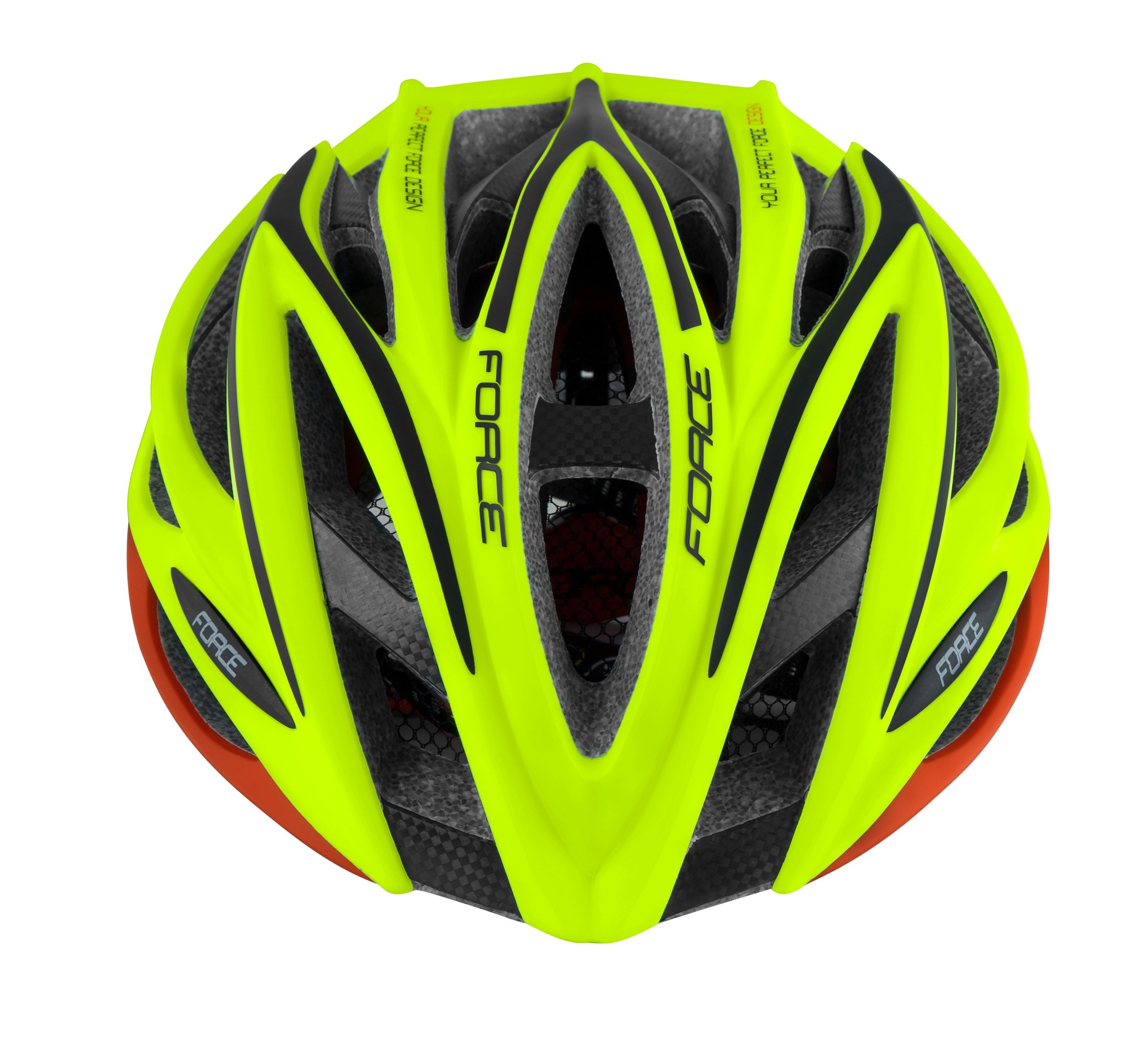 Force Aries Carbon hjelm Fluo/rød   Hjelme