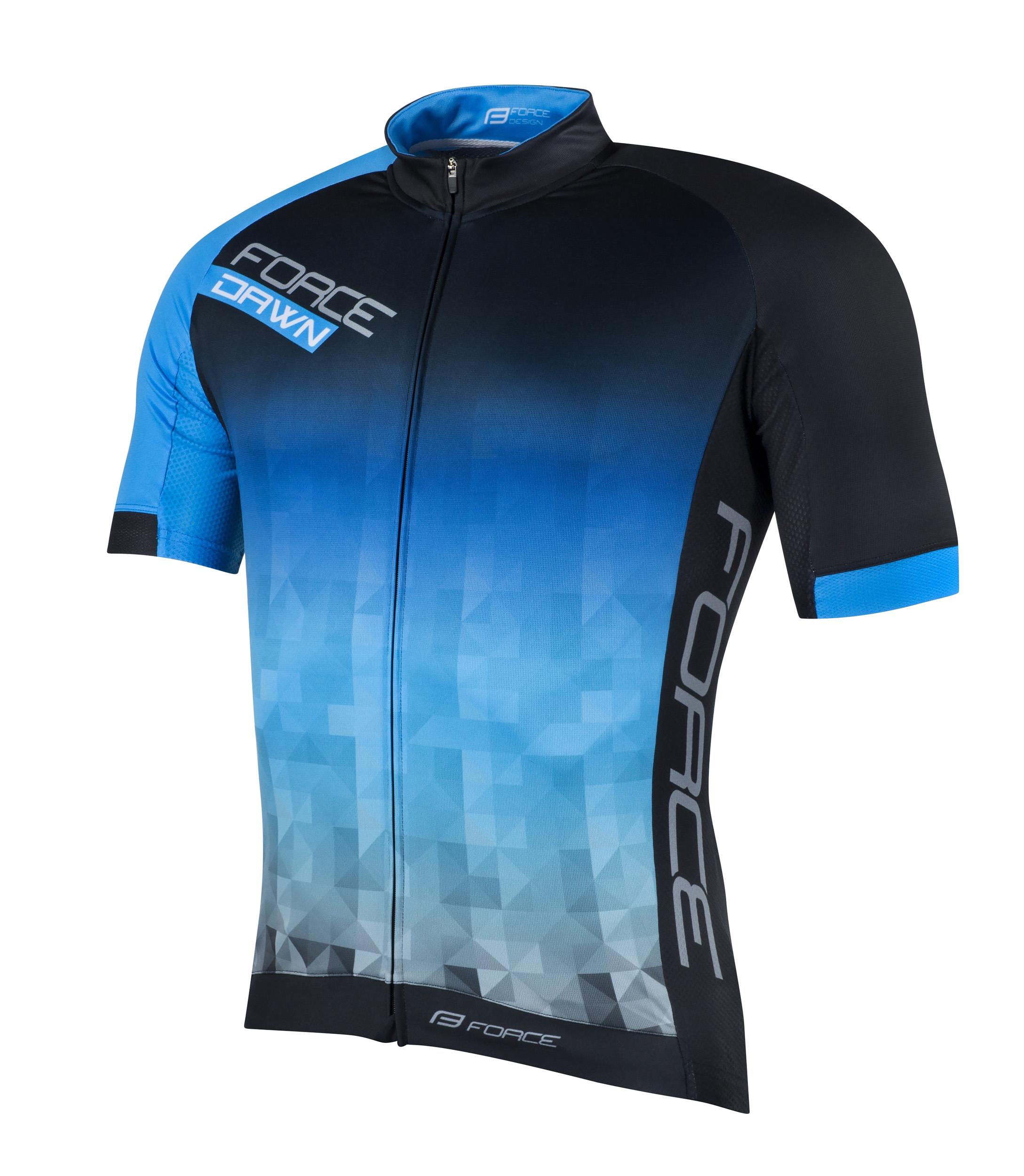 Force Dawn High-End Kortærmet cykeltrøje sort/blå