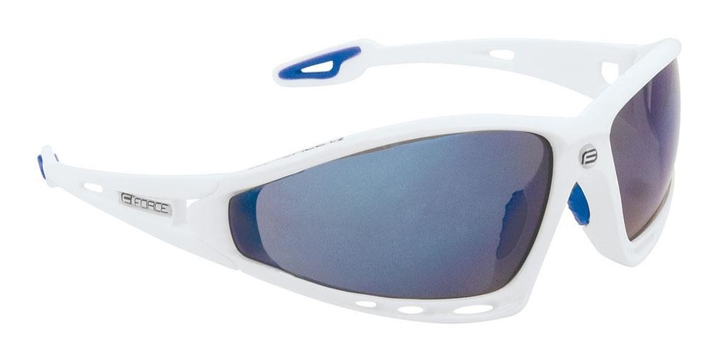 Force F.Pro solbrille hvid/blå laser | Briller