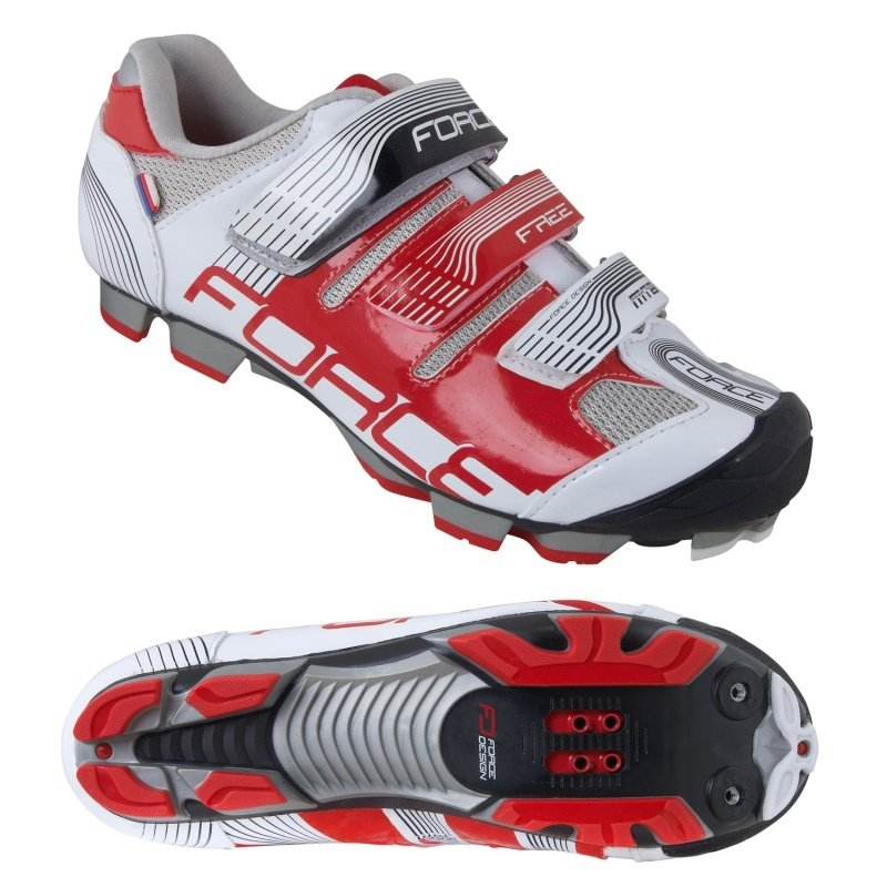 Force Free MTB sko rød/hvid