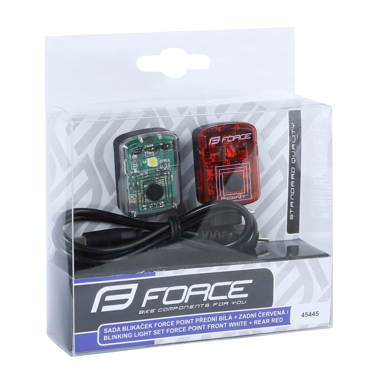 Force LED cykellygte sæt | Batterier og opladere