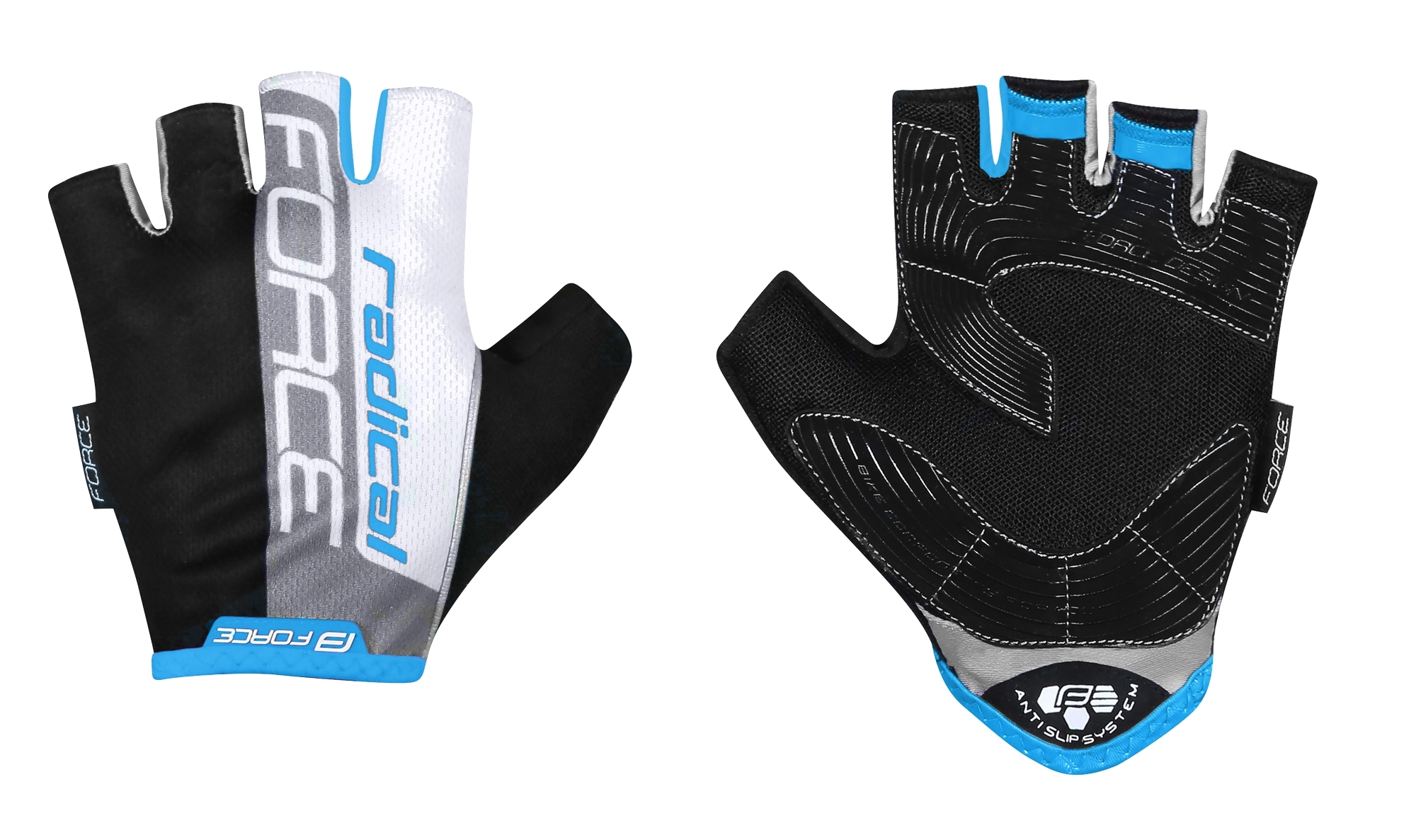 Force Radical handsker sort/blå/hvid | Handsker