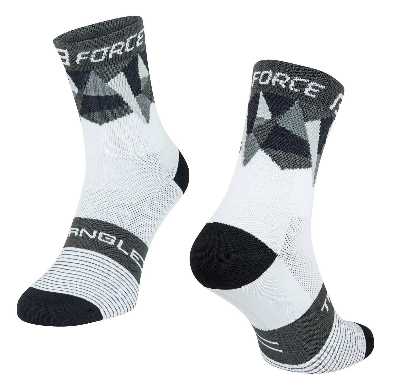 Force Triangle Cykelsokker Hvid/Grå/Sort | Socks