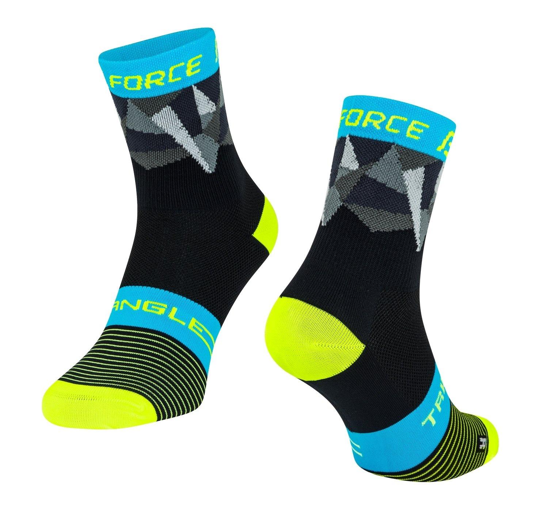 Force Triangle Cykelsokker Sort/Fluo/Blå | Socks