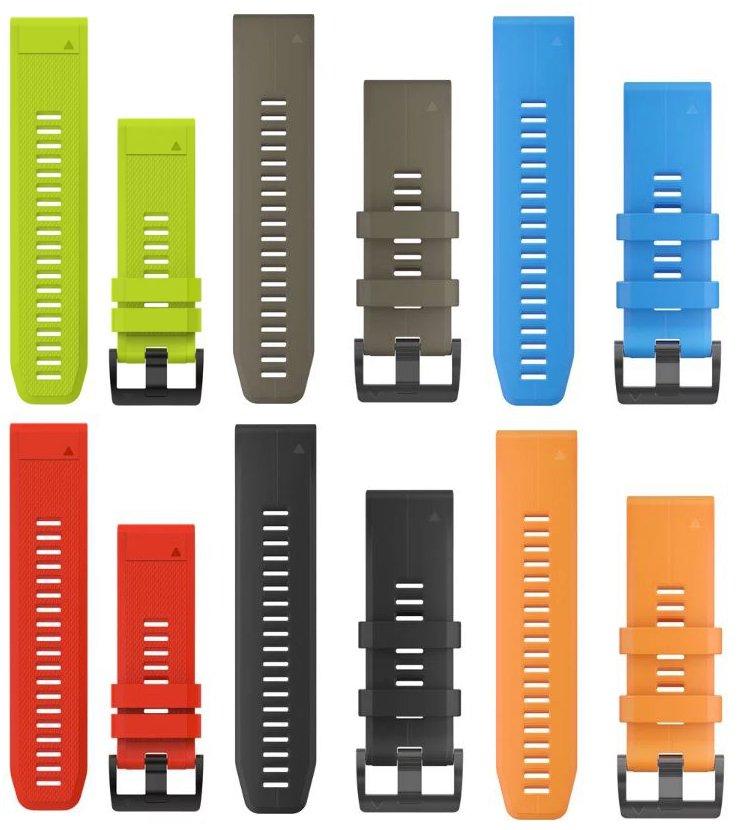 Garmin rem til Fenix ure Quickfit - Farve: Neon