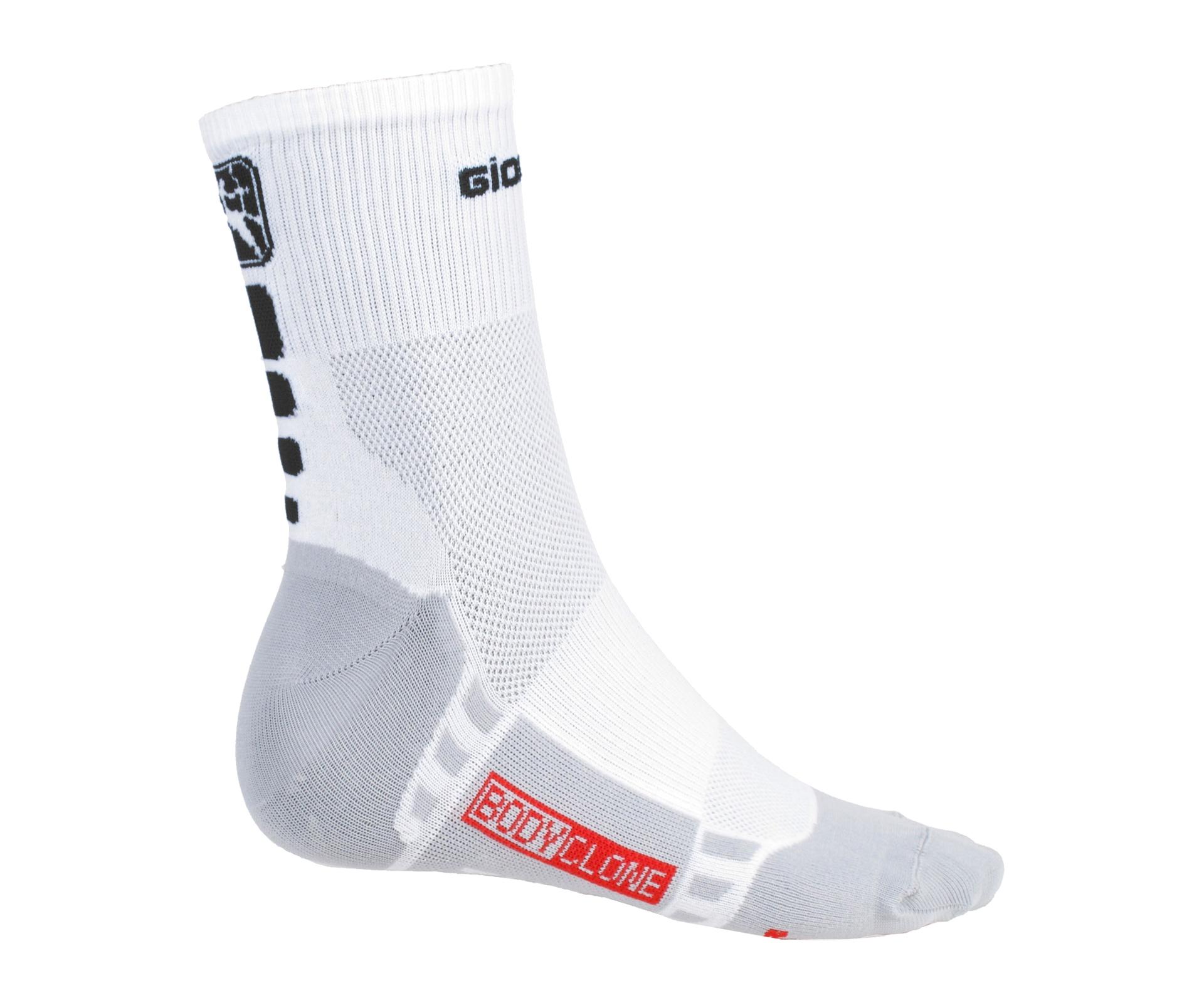 Giordana FR_C stømper medium længde hvid/sort | Socks