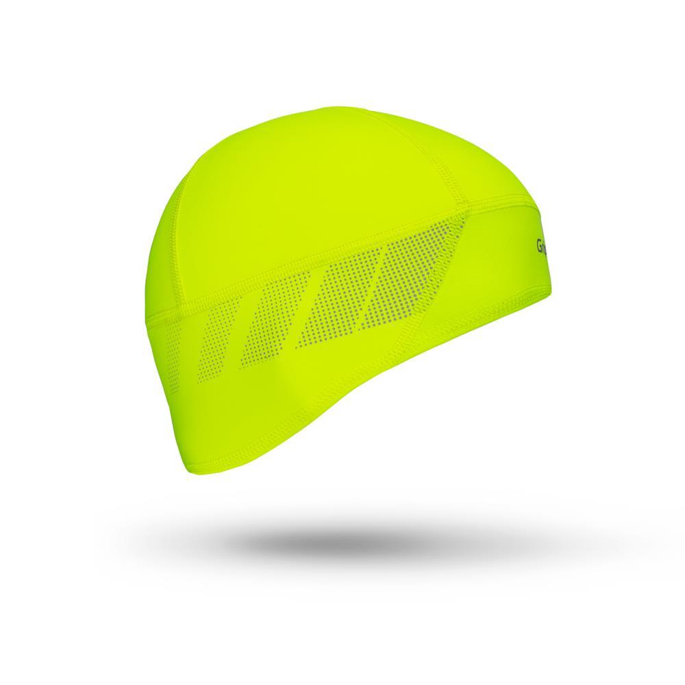 GripGrab Hi-Vis Skull Cap vindtæt fluo | Hovedbeklædning