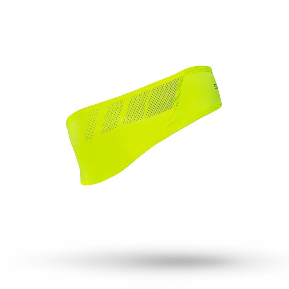 GripGrab Hi-Vis vindtæt pandebånd fluo | Hovedbeklædning