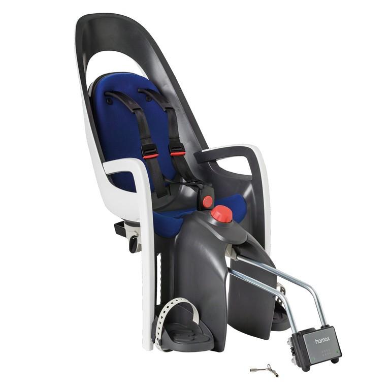 Hamax Caress Barnestol Grå/Hvid/blå til montering på stell | Bike seat