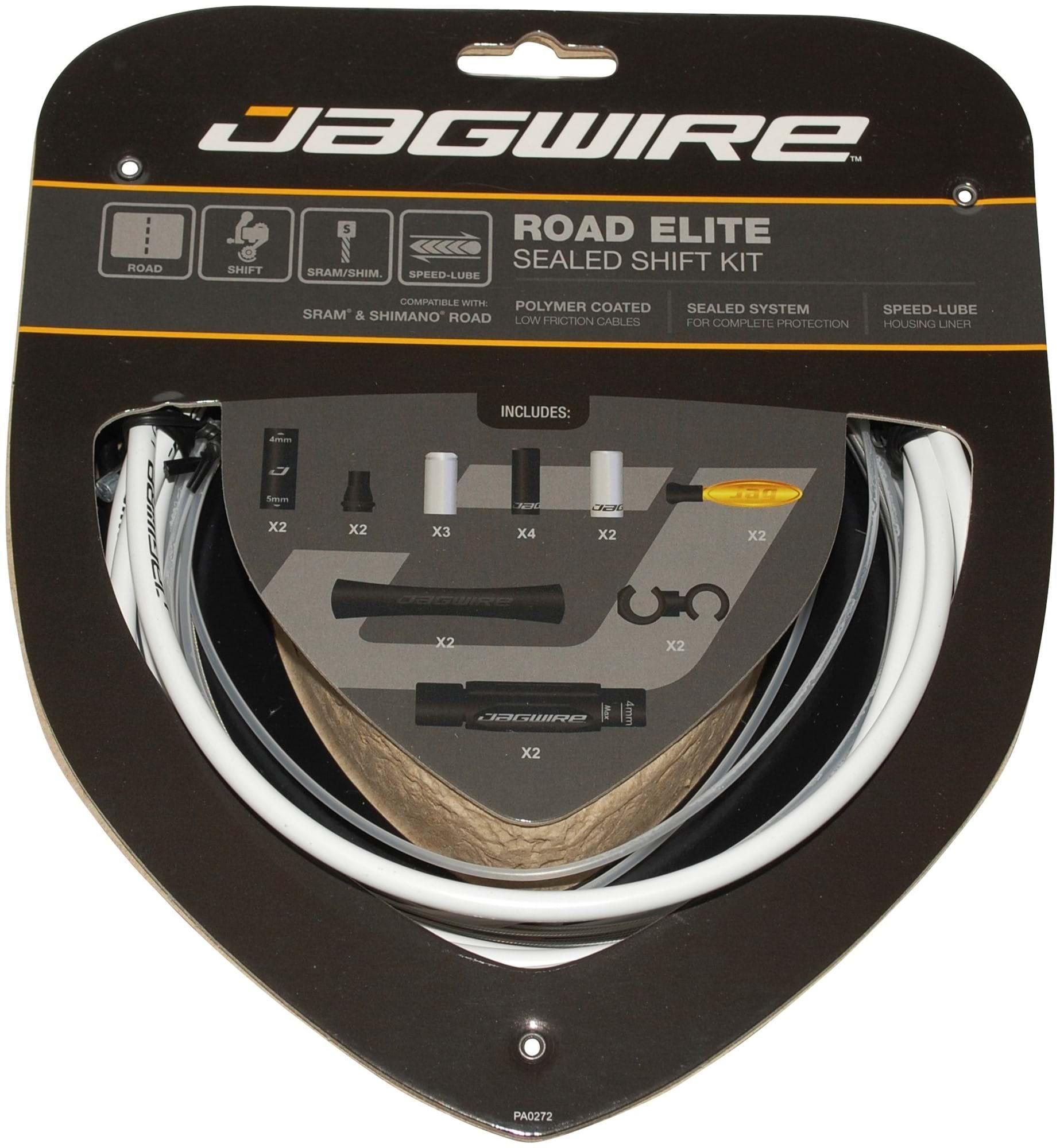 Jagwire Elite Road Elite Sealed Shift Kit gearkabelsæt race hvid   Gearkabler og wire