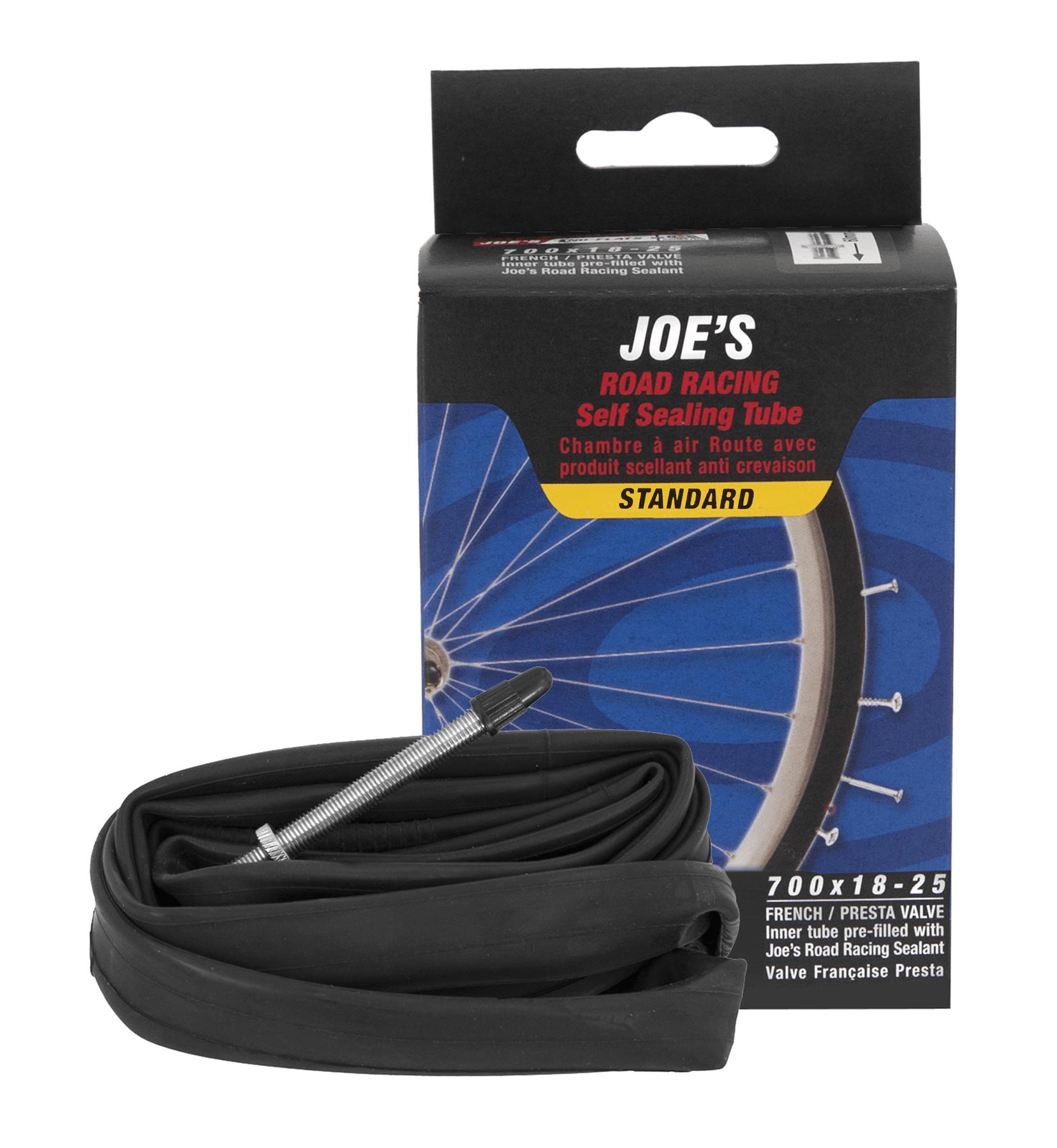 Joe's No Flats Slange med Super Sealant 700x18-25 Racer 60 MM | Slanger