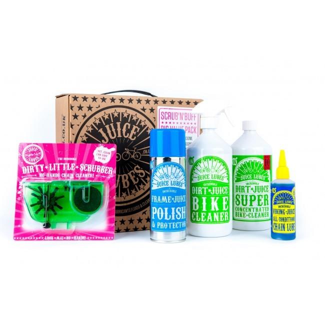 Juice Lubes Vedligeholdelses pakke med 5 produkter | polish_and_lubricant_component