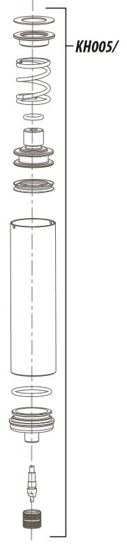 Cannondale Air Cylinder til DL80 og DLR80   Gafler