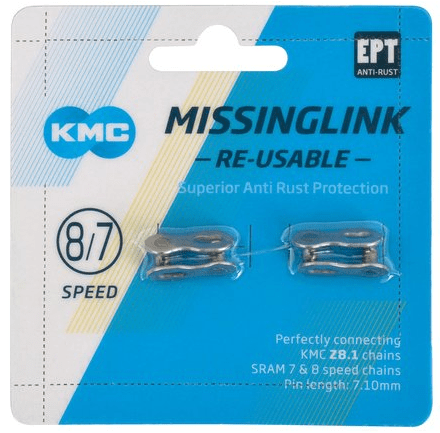 KMC Missinglink 6, 7 og 8 Speed Re-Useable | Samleled til kæder