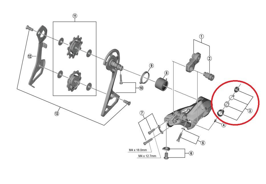 kabeljusteringsbolt shimano ultegra r8000 bagskifter | rear derailleur