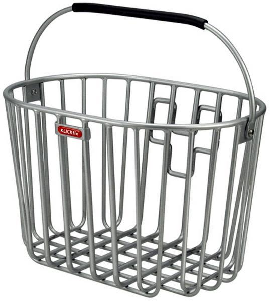 Klickfix cykelkurv til front 16L sølv | Bike baskets
