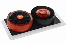 Lizard Skin styrbånd sort og rød   Bar tape