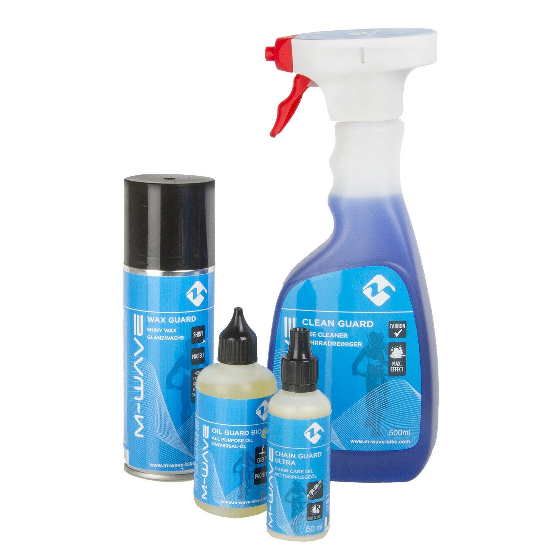 M-Wave Rengøringspakke/vedligeholdelsespakke med 4 dele | polish_and_lubricant_component
