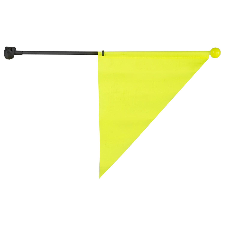 M-Wave Sideflag Fluo med Refleks Kort | Reflekser