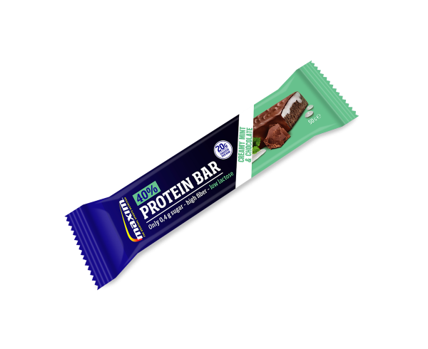 Maxim protein bar 40% Creamy mint and chocolate | Protein bar and powder