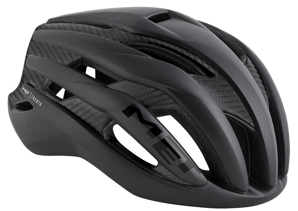 Met Trenta 3K Carbon aerodynamisk hjelm, sort   Hjelme