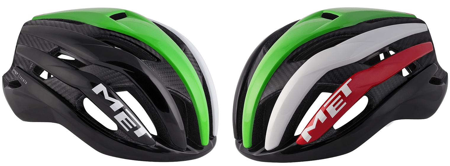 Met Trenta 3K Carbon aerodynamisk hjelm, tricolore   Hjelme