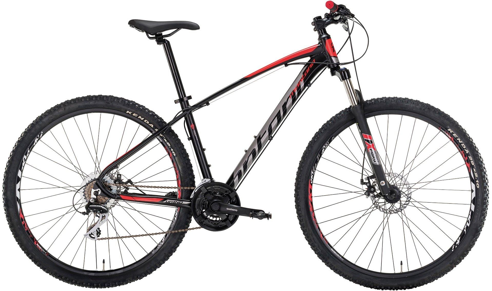 Montana Urano 29 R291 - Alivio 27 gear MTB - Sort/rød | Mountainbikes