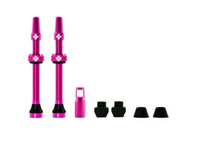 Muc-Off ventil sæt Tubeless 2 stk. 60 mm Pink - 249,00   Valve